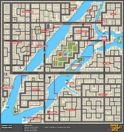 Mapa de Misiones secretas > Liberty City > Gangsgta Bang