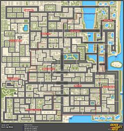 Mapa de Misiones secretas > Vice City > Bent Cop Blues