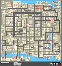 Mapa de Frenesis asesinos del Distrito Central