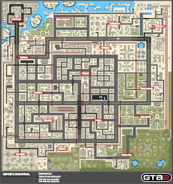 Mapa de Frenesis asesinos del Distrito Industrial