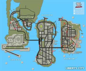 Mapa de Acrobacias únicas