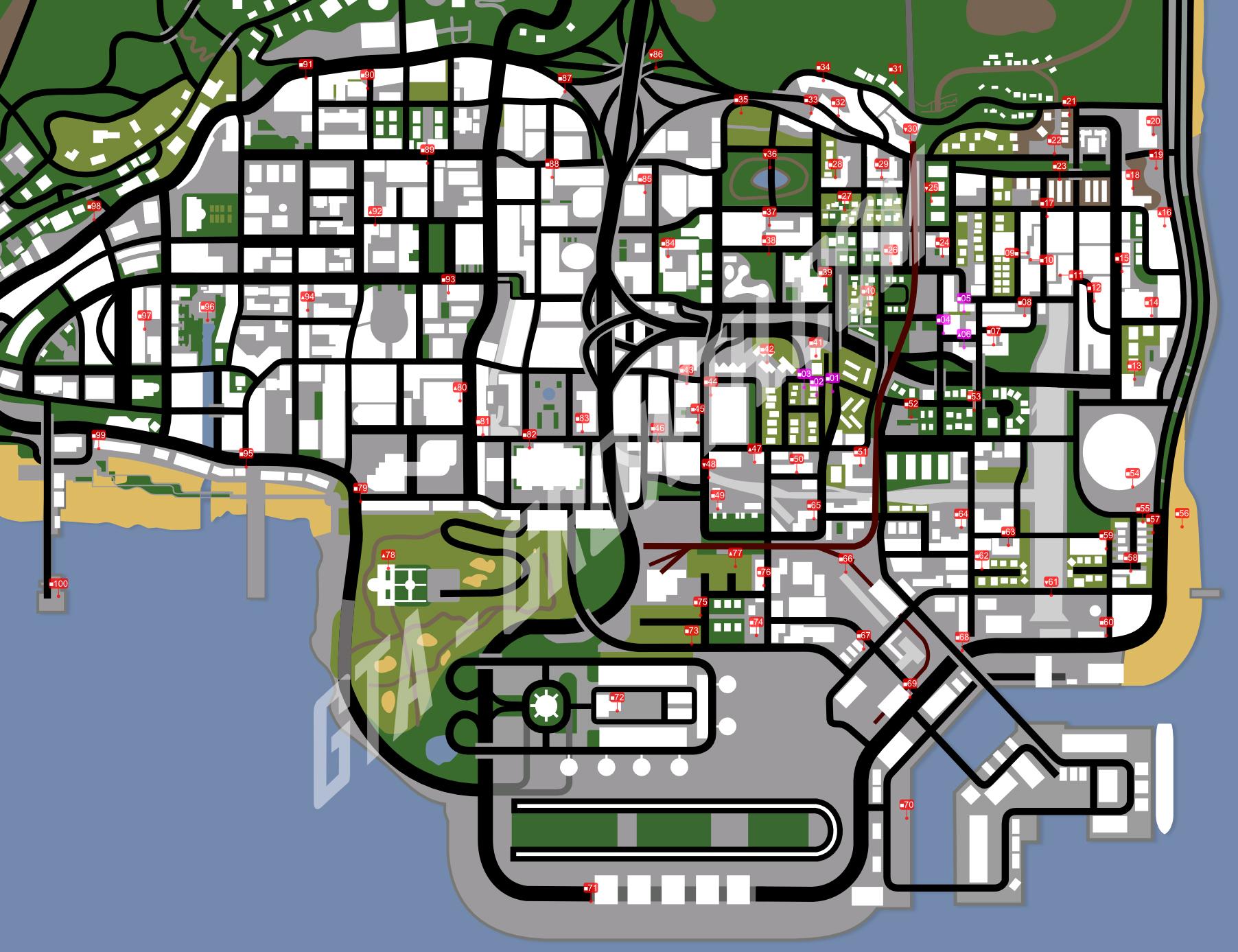 Gta San Andreas Map Locations GTA Online Simeon Car ...