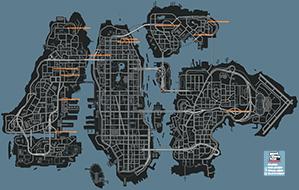 Mapa de Carreras callejeras
